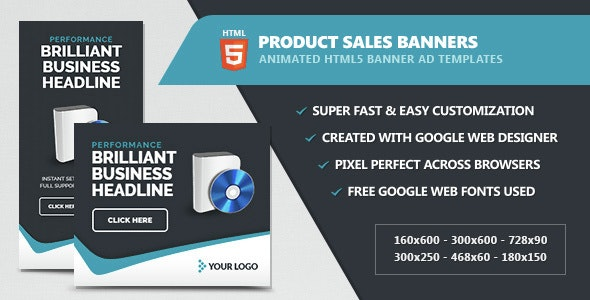 Product Sales Banners - Animated HTML5 - CodeCanyon Item for Sale