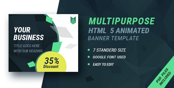 GWD Business | HTML5 Google Banner Ad 16