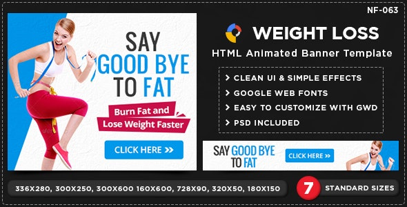 HTML5 Weight loss Banners - GWD - 7 Sizes - CodeCanyon Item for Sale