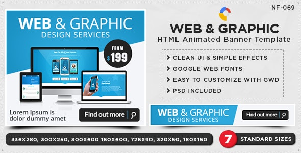 HTML5 Agency Banners - GWD - 7 Sizes - CodeCanyon Item for Sale
