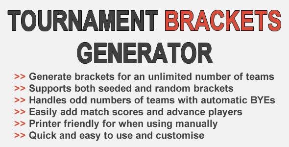 Tournament Brackets Generator - CodeCanyon Item for Sale