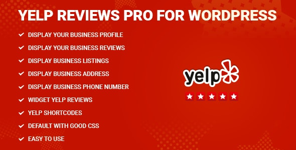 Yelp Reviews Pro for WordPress - CodeCanyon Item for Sale