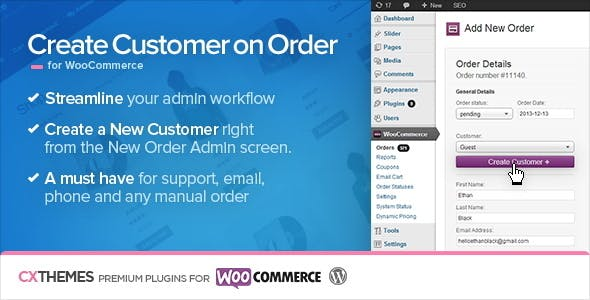 Create Customer on Order for WooCommerce        Nulled