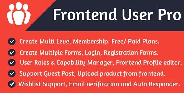 Frontend User Pro - CodeCanyon Item for Sale