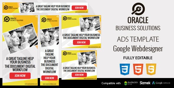 Business Solutions HTML5 Ads Template