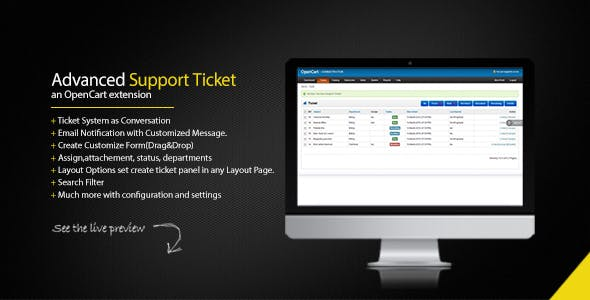 Support Ticket System - Opencart