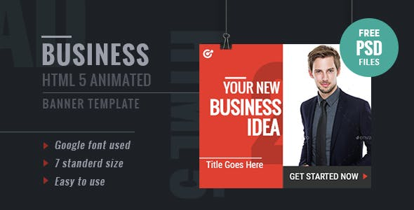 GWD Business | HTML5 Google Banner Ad 17