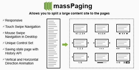 Text Pagination - CodeCanyon Item for Sale