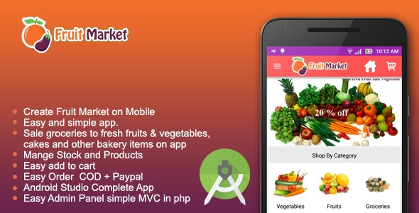 Fruit Market - Local fruit store app - CodeCanyon Item for Sale