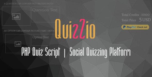 Quizzio - PHP Quiz Website Script | Viral Social Quizzes - CodeCanyon Item for Sale