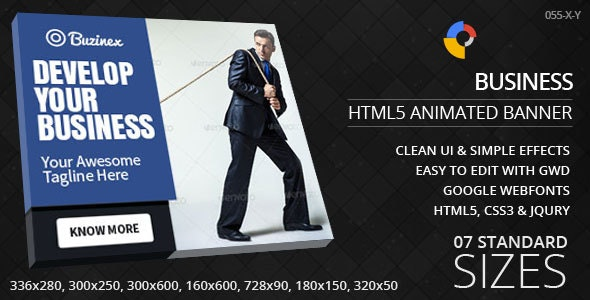Multipurpose - HTML5 ad banners - CodeCanyon Item for Sale