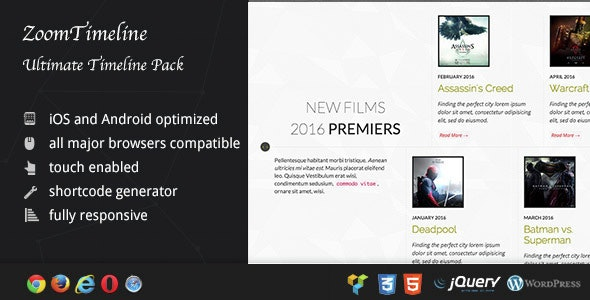 ZoomTimeline - Visual Composer Timeline Pack - CodeCanyon Item for Sale