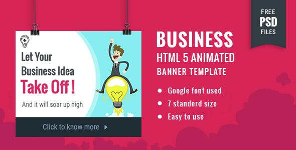 Business | HTML5 Google Banner Ad 18