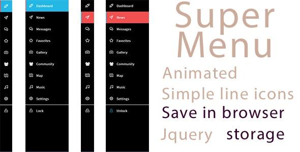 Super Menu - ShakiDev - CodeCanyon Item for Sale