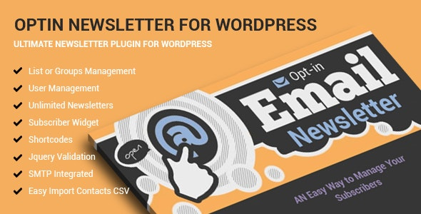 Optin Newsletter For WordPress - CodeCanyon Item for Sale