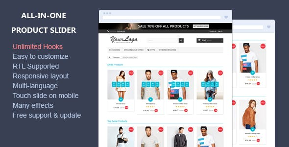 All-in-one Product Slider - Responsive Prestashop Module
