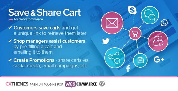 Save & Share Cart for WooCommerce        Nulled