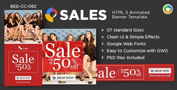 HTML5 Special Offer Banners - GWD - 7 Sizes