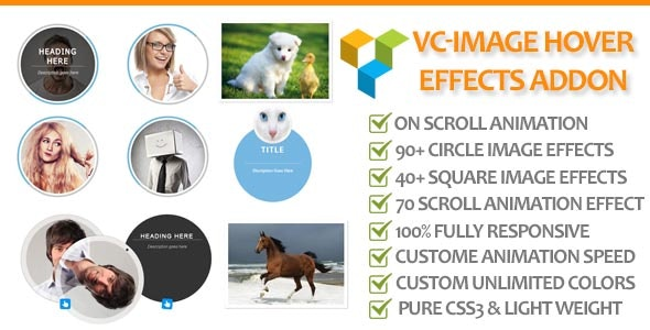 Visual Composer Image hover Effect Addon - CodeCanyon Item for Sale