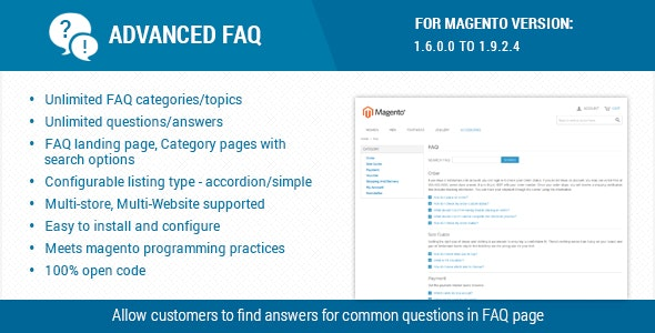 Advanced FAQ Extension for Magento - CodeCanyon Item for Sale