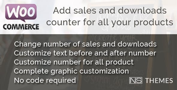 WooCommerce sales and downloads counter