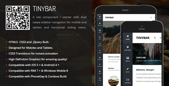 TinyBar | Sidebar Menu for Mobiles & Tablets - CodeCanyon Item for Sale