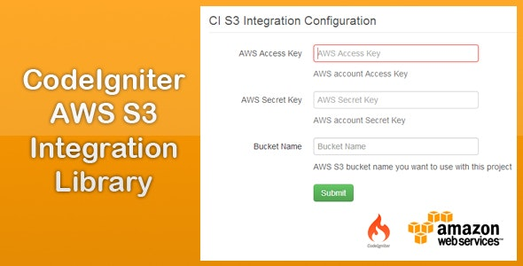CodeIgniter AWS S3 Integration Library by scriptigniter