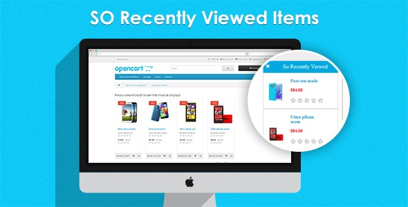 So Recently Viewed Items - Responsive OpenCart Module - CodeCanyon Item for Sale