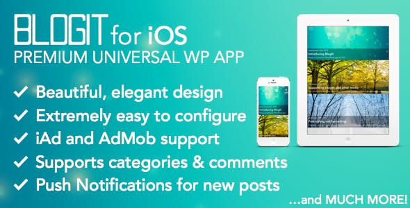 BlogIt: Premium WordPress App for iOS (Push, iPad)