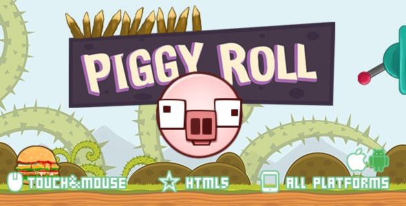 Piggy Roll-html5 construct2 game
