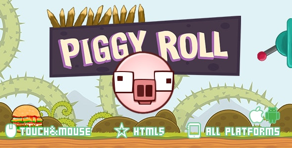 Piggy Roll-html5 construct2 game - CodeCanyon Item for Sale