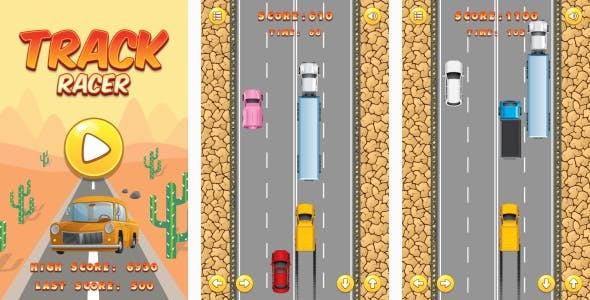 Track Racer - HTML5 Game + Android + AdMob (Construct 3 | Construct 2 | Capx)