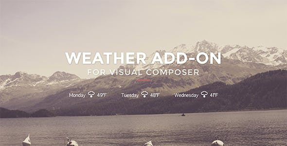 Weather for Visual Composer