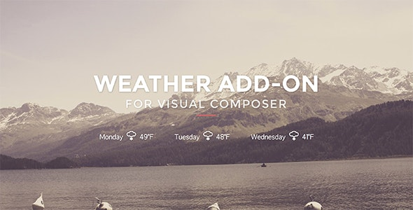 Weather for Visual Composer - CodeCanyon Item for Sale