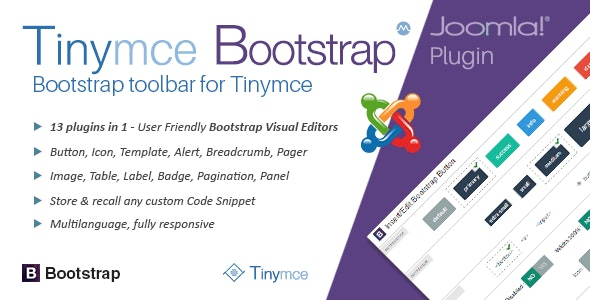 TinyMce Bootstrap plugin for Joomla
