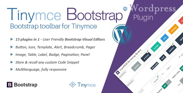 tinyMce Bootstrap Plugin for Wordpress