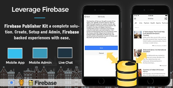 Firebase Publisher Kit Ionic - Full Application with Firebase backend and Admin UI - CodeCanyon Item for Sale