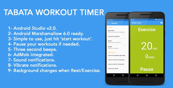 Tabata Workout Timer - For Weight Loss - CodeCanyon Item for Sale