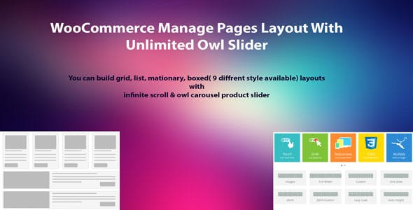 WooCommerce Manage Pages Layout With Unlimited Owl Slider
