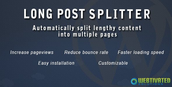 WordPress Long Post Splitter
