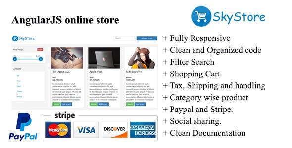 SkyStore-AngularJS online Store