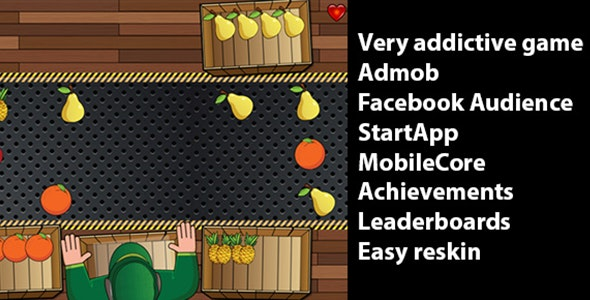 Fruit Sorting with Admob, StartApp and Leaderboards - CodeCanyon Item for Sale