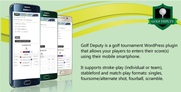 Golf Deputy: Tournament Plugin - CodeCanyon Item for Sale