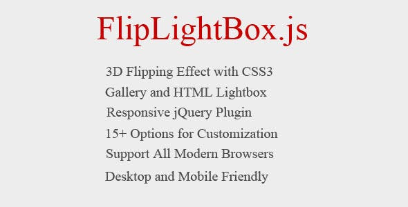 Flipping Lightbox 3D with jQuery, and CSS3