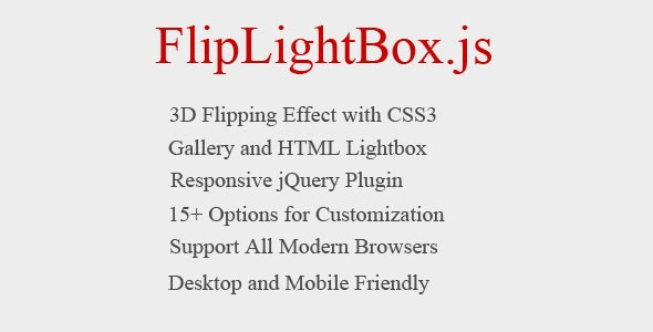 Flipping Lightbox 3D with jQuery, and CSS3 - CodeCanyon Item for Sale
