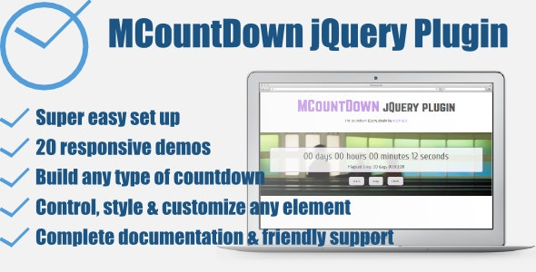 MCountDown - Responsive jQuery Countdown Plugin - CodeCanyon Item for Sale