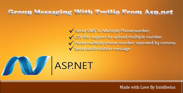 Group SMS from Asp.net - CodeCanyon Item for Sale