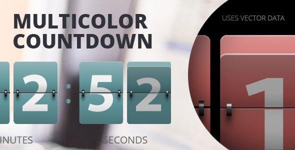 Multicolor Countdown for Adobe Muse.