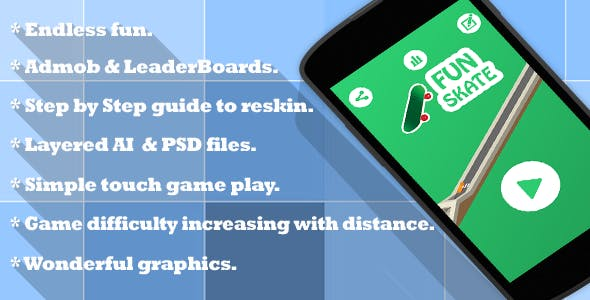 Fun Skate - Admob + Leaderboard  | IOS