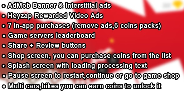 Death Race - AdMob,Heyzap,in-app purchases,leaderboard and more! - CodeCanyon Item for Sale